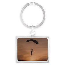 Sunset Skydiver Landscape Keychain