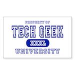 Tech Geek University Rectangle Sticker