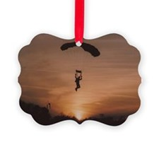 Sunset Skydiver Ornament