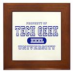 Tech Geek University Framed Tile