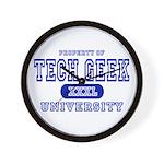 Tech Geek University Wall Clock