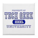 Tech Geek University Tile Coaster