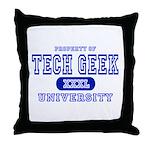 Tech Geek University Throw Pillow