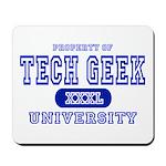 Tech Geek University Mousepad
