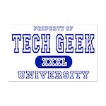 Tech Geek University Mini Poster Print