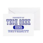 Tech Geek University Greeting Cards (Pk of 10)