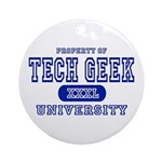 Tech Geek University Ornament (Round)