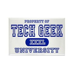 Tech Geek University Rectangle Magnet