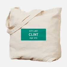 Clint, Texas City Limits Tote Bag