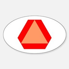 Slow Moving Oval Decal