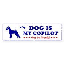 DOG is My Copilot - AIREDALE Bumper Bumper Sticker