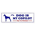DOG is My Copilot - DOBERMAN Sticker