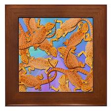 Bunches of Beardies Framed Tile