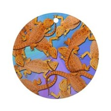 Bunches of Beardies Ornament (Round)