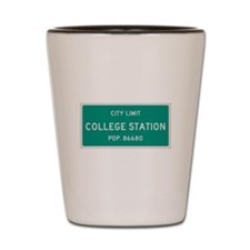 College Station, Texas City Limits Shot Glass