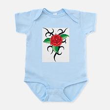 TRIBAL RED ROSE Infant Bodysuit