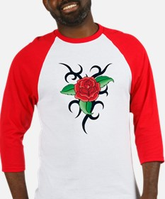 TRIBAL RED ROSE Baseball Jersey