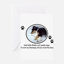 puppy announcement Greeting Cards