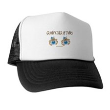Grandfather Of Twins- 2 Boys Trucker Hat