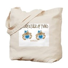 Grandfather Of Twins- 2 Boys Tote Bag