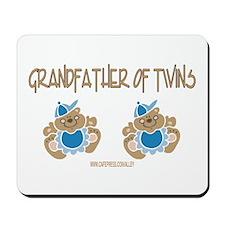 Grandfather Of Twins- 2 Boys Mousepad