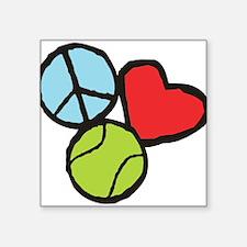 Peace, Love, Tennis Sticker