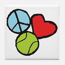 Peace, Love, Tennis Tile Coaster