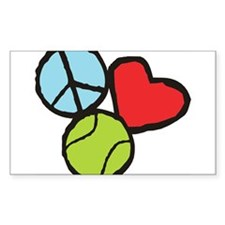 Peace, Love, Tennis Decal