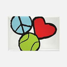 Peace, Love, Tennis Rectangle Magnet