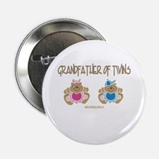 Grandfather Of Twins- Boy/Girl Button
