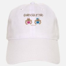 Grandfather Of Twins- Boy/Girl Baseball Baseball Cap
