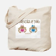 Grandfather Of Twins- Boy/Girl Tote Bag