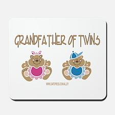 Grandfather Of Twins- Boy/Girl Mousepad