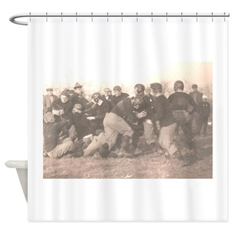 Football_leatherheads Shower Curtain