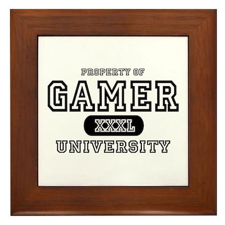 Gamer University Framed Tile