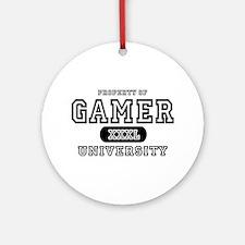Gamer University Ornament (Round)