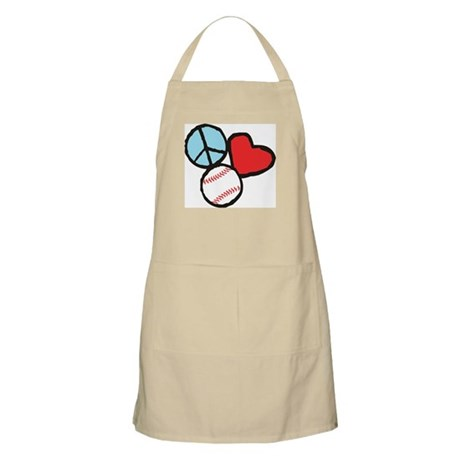 Peace, Love, Baseball Apron