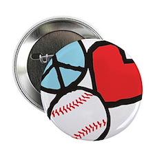 "Peace, Love, Baseball 2.25"" Button"