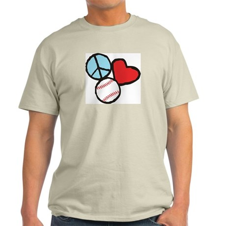 Peace, Love, Baseball T-Shirt