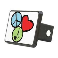 Peace, Love, Music Hitch Cover