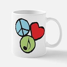 Peace, Love, Music Mug