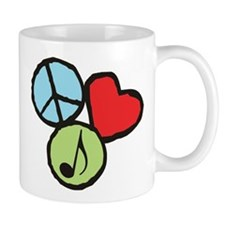 Peace, Love, Music Mug