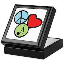 Peace, Love, Music Keepsake Box