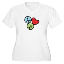 Peace, Love, Music T-Shirt