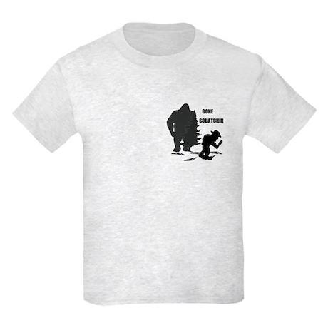 Gone Squatchin print Kids Light T-Shirt