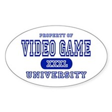Video Game University Oval Decal