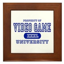 Video Game University Framed Tile