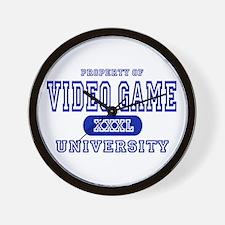 Video Game University Wall Clock