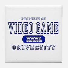 Video Game University Tile Coaster