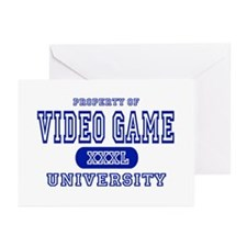 Video Game University Greeting Cards (Pk of 10